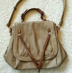 No Aid Bags - PURSE TAN/TAUPE LEATHER OR LEATHER~LIKE